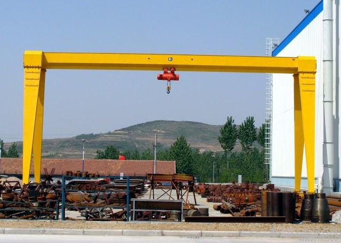 MH Single Beam Adjustable Gantry Crane With Electric Hoist For Stone Marble Handling