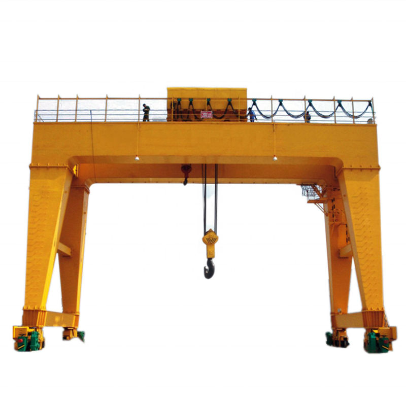 Large Power Double Beam Gantry Crane 35 Ton Fast Lifting Speed High Working Level